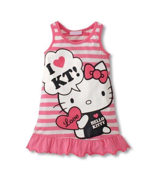 Vestido Love Hello Kitty Rosa