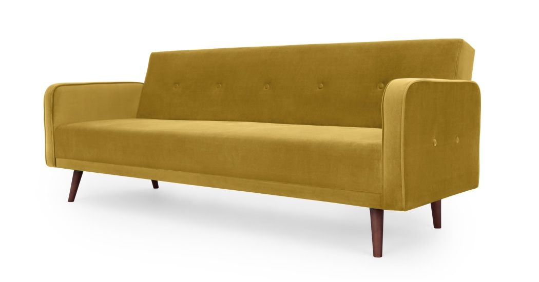 Chou Canape Clic Clac Velours Dore Patine With Images Sofa Bed Vintage Sofa Bed Sofa