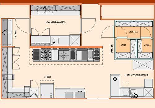 Tallerdehosteleríabásica Junio 2012 Diseño De Cocina De Restaurante Diseño De Cocina Comercial Planos De Cocinas