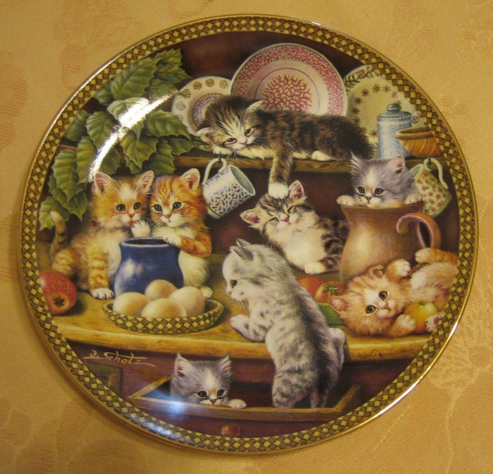 Bradford Exchange collectible decorative porcelain plate Cats Kittens NEW w/COA & Bradford Exchange collectible decorative porcelain plate Cats ...