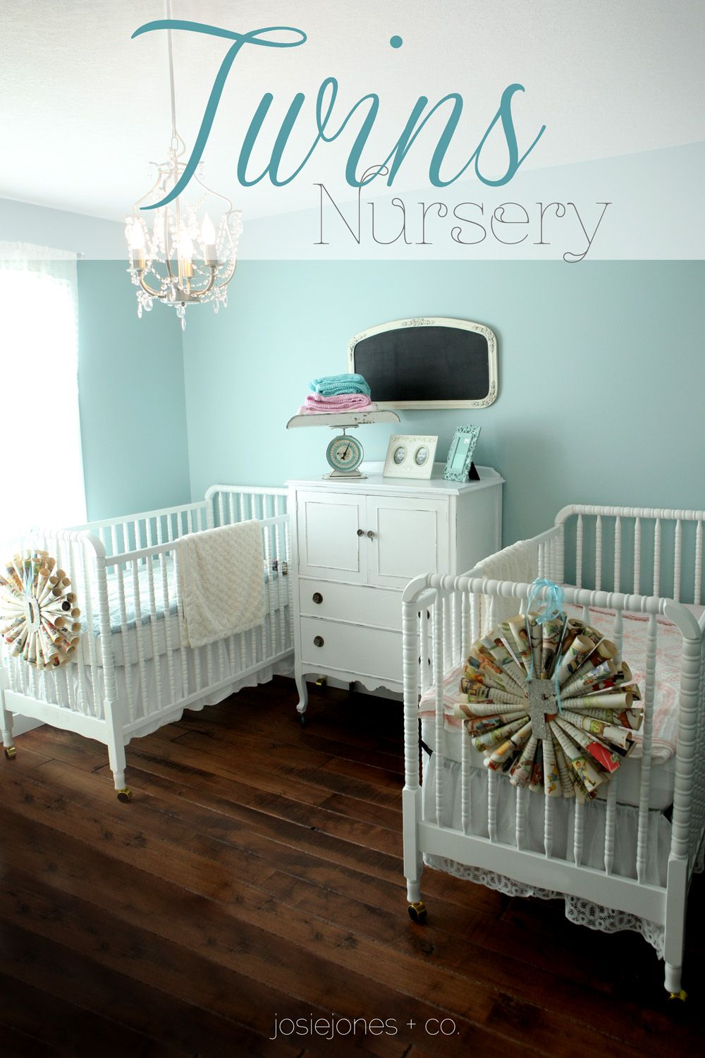 twins nursery Jessica Steggell A Few of My Favorite Things