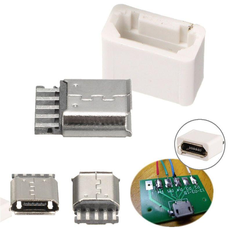 micro usb 5pin buchse stecker mit abdeckung l ten. Black Bedroom Furniture Sets. Home Design Ideas