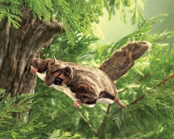 Ultra Soft And Glides On Hand Adorable Gift Realistic Flying Squirrel Puppet