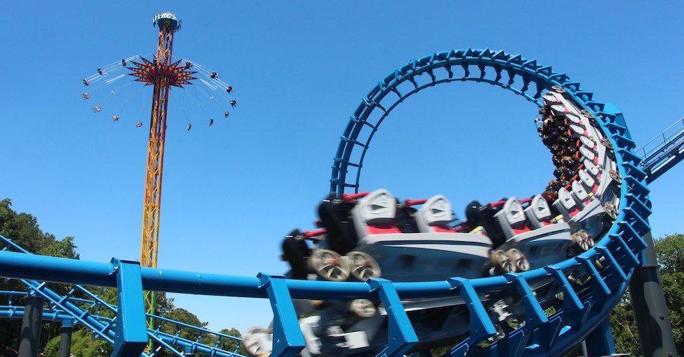 Six Flags Over Georgia To Host Superhero Coasterthon This August Six Flags Children Healthcare Flag