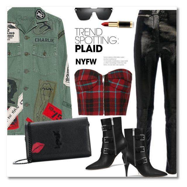 """NYFW 2018 PGR"" by vkmd ❤ liked on Polyvore featuring MadeWorn, Givenchy, 3.1 Phillip Lim, MICHAEL Michael Kors, L'Oréal Paris, Yves Saint Laurent, contestentry and NYFWPlaid"