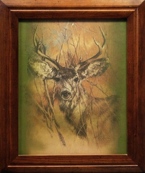 Deer Fine Art Print By K Marson Image Size 15 X 19 Inches Frame