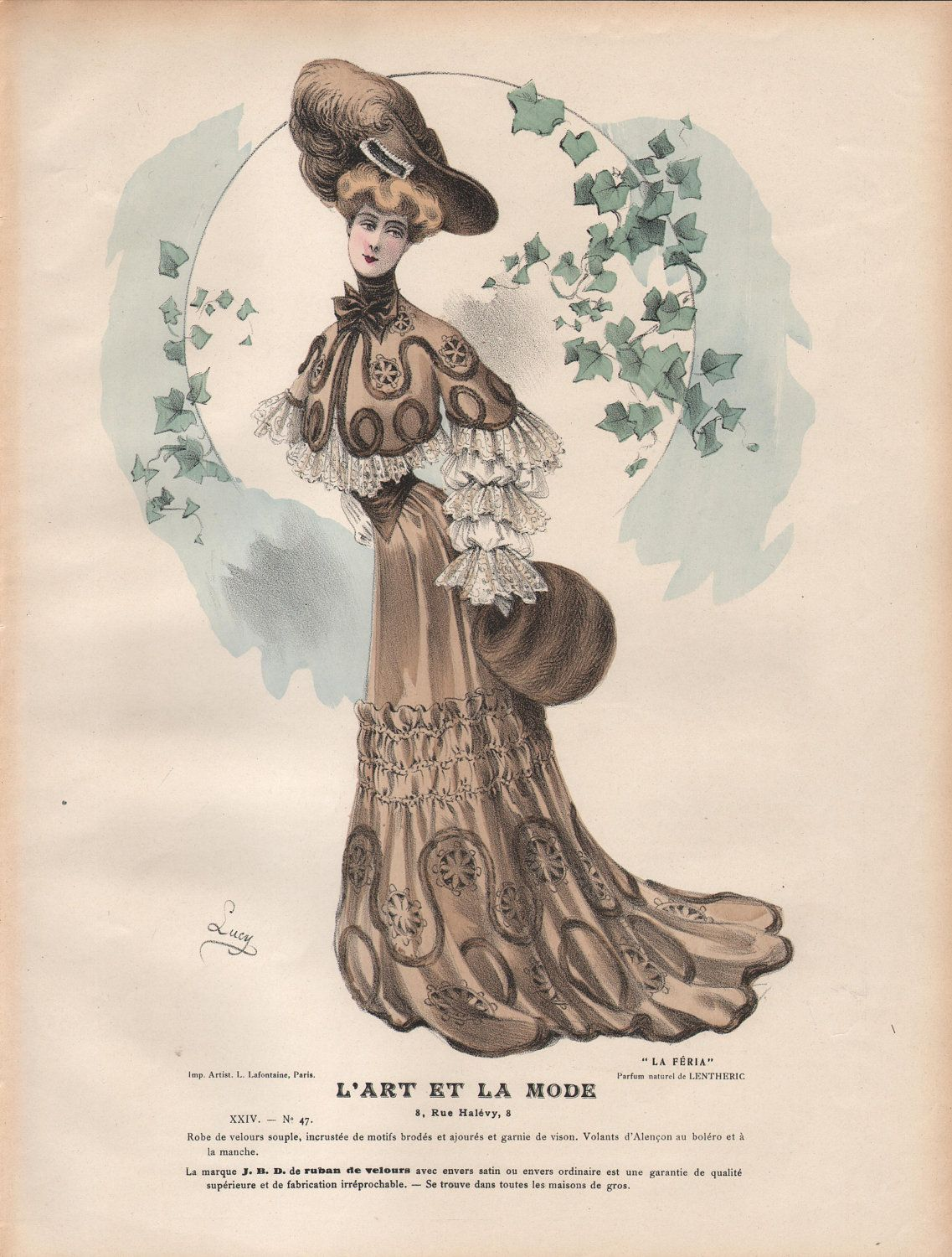 French fashion plate from l art et la mode of 1903 for Exquisit mode