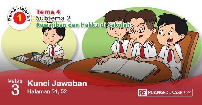 Kunci Jawaban Tema 4 Kelas 3 Halaman 51 52 Buku Kurikulum