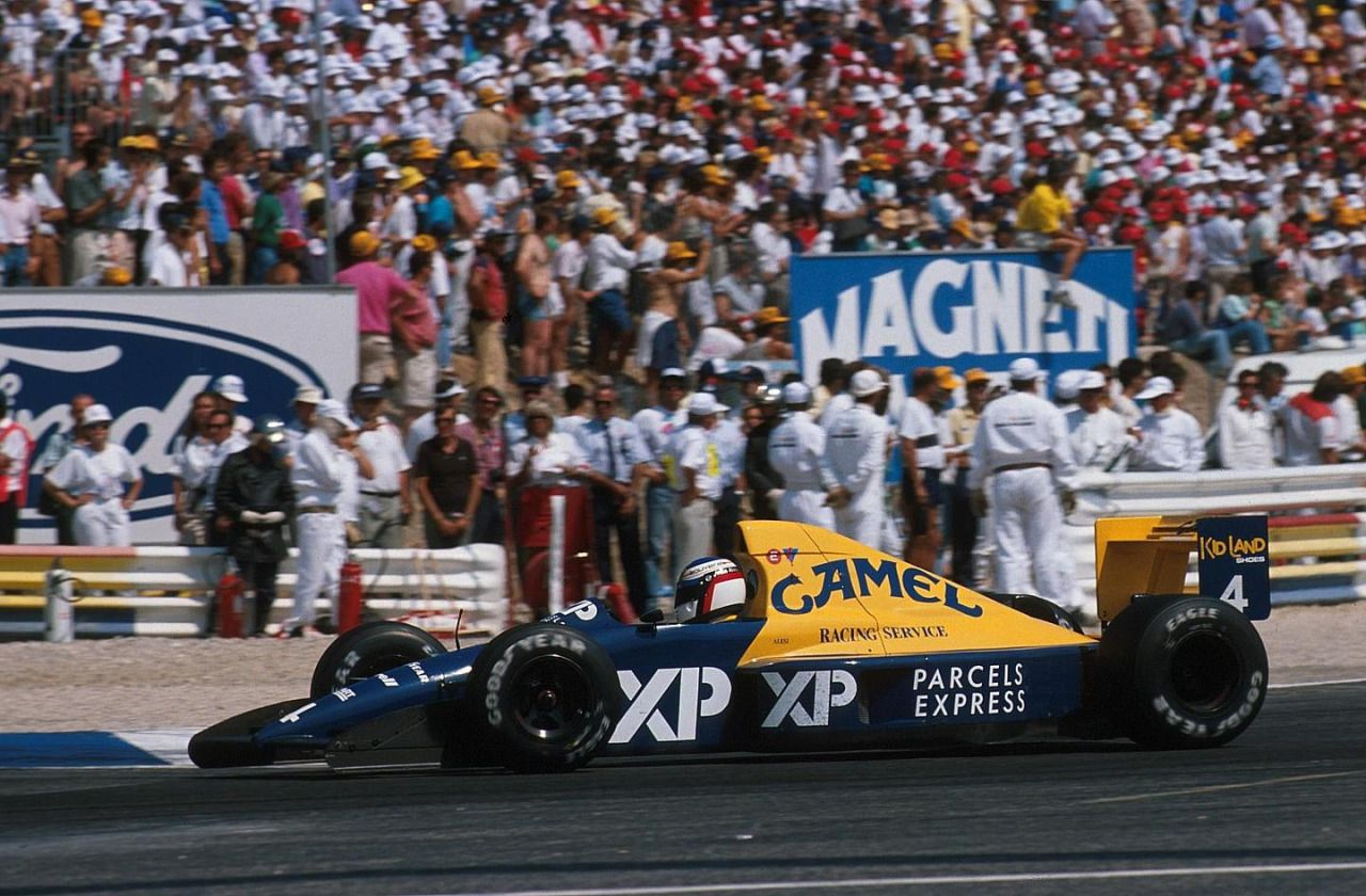 Jean Alesi, TyrrellFord 018, 1989 French GP, Le Castellet
