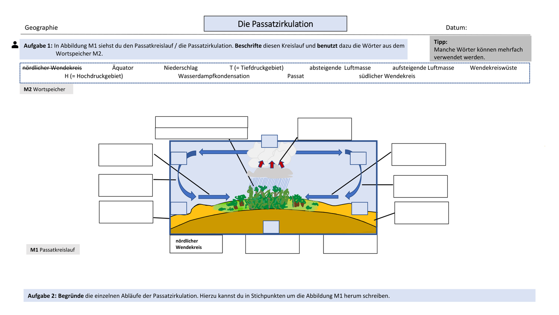 AB Passatzirkulation und Musterlösung – Unterrichtsmaterial im ...