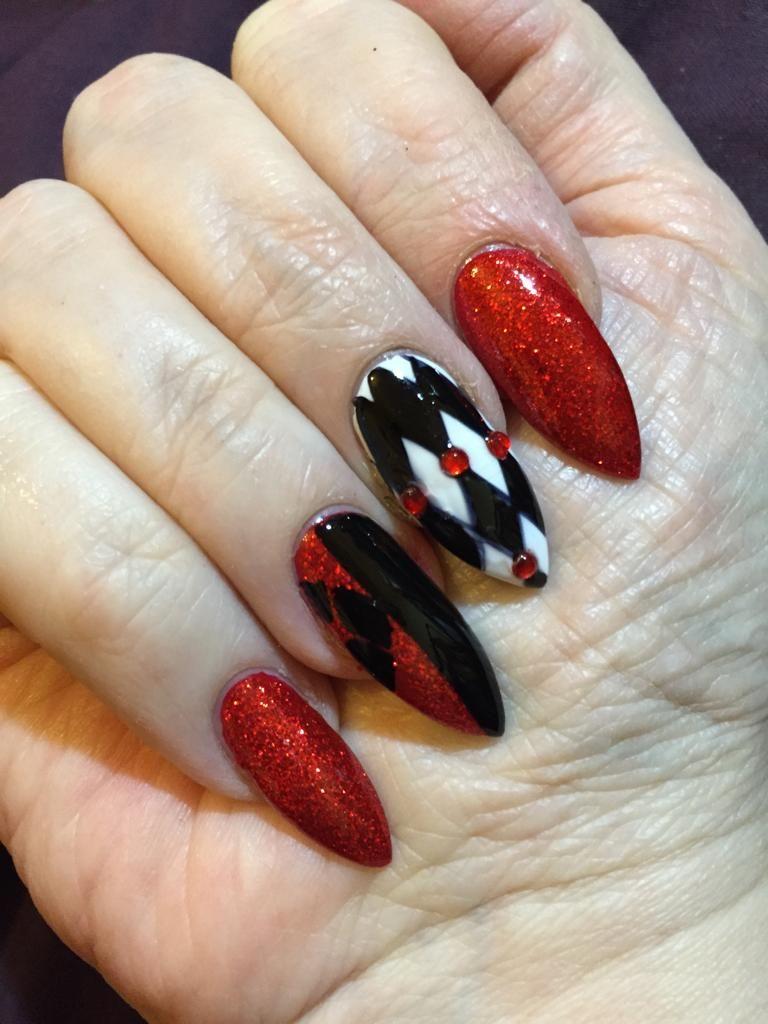 Harley Quinn nails from reddit