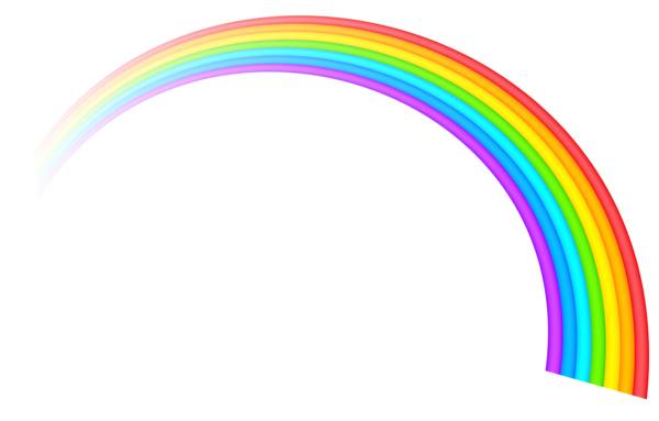 rainbow transparent clipart cartoon rainbows clip background library icon hearts parties