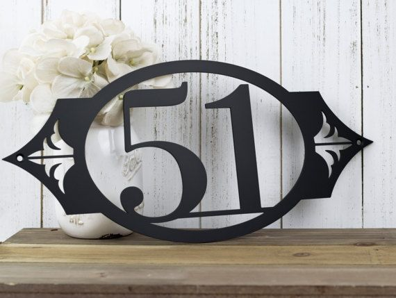 Outdoor House Number Address Sign Custom Sign House Numbers
