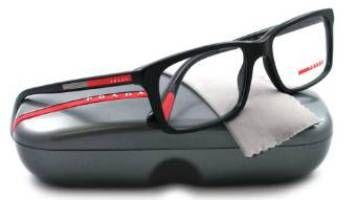 86ddc3576103 Prada Linea Rossa Geometric Eyeglasses