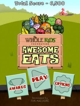 Awesome Eats™ - a sorting game promoting healthy eating habits. Appysmarts score: 77/100