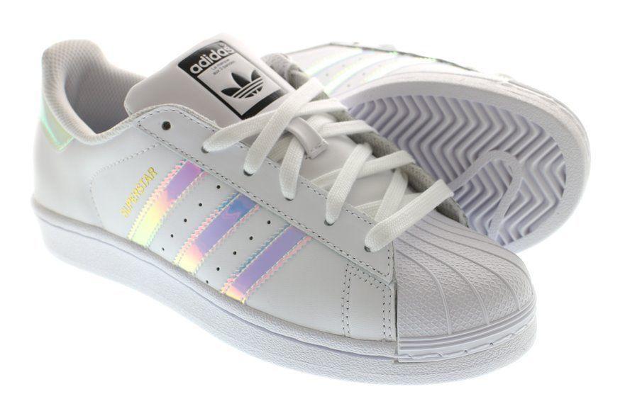 1344ec407b1c ... junior 00c7a f517a  denmark adidas superstar j white hologram iridescent  gs aq6278 girls size 4 7y 5.5 8.5w