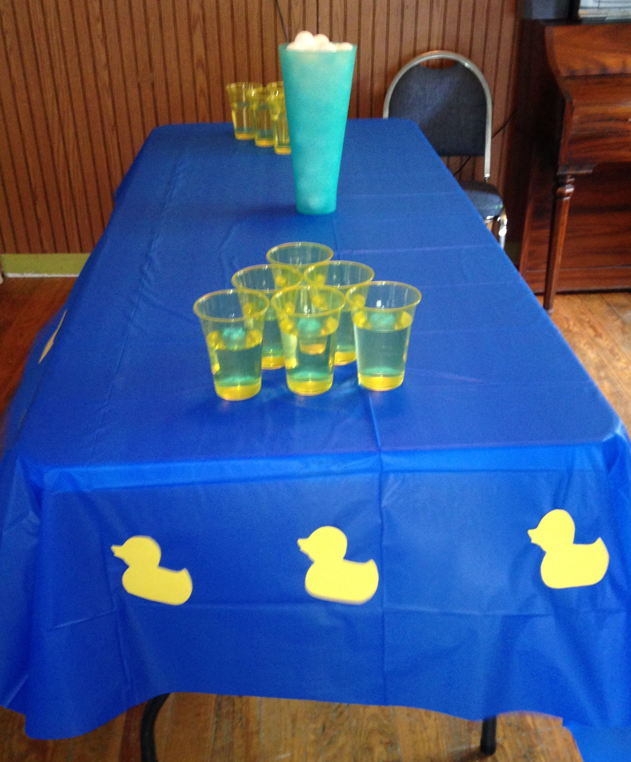 Diy Baby Shower Blue Yellow Boy Rubber Duck Cheap Easy