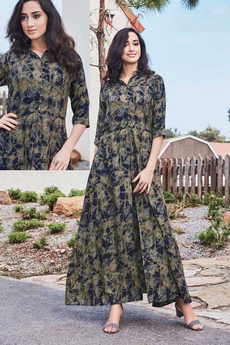 Blue-Rayon-Printed-Long-Gown-Style-Half-Sleeve-Kurti-204-4151  bulk   wholesale  wholesalesupplier  wholesaledealer  bulksupplier  bulk dealer   georgette ... 7e554f8d1