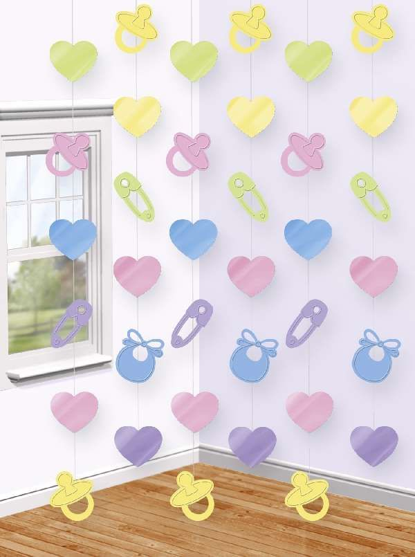568b6a806 Guirnalda Vertical Baby Shower ideal para decorar tu fiesta.  www.paradaobligada.es