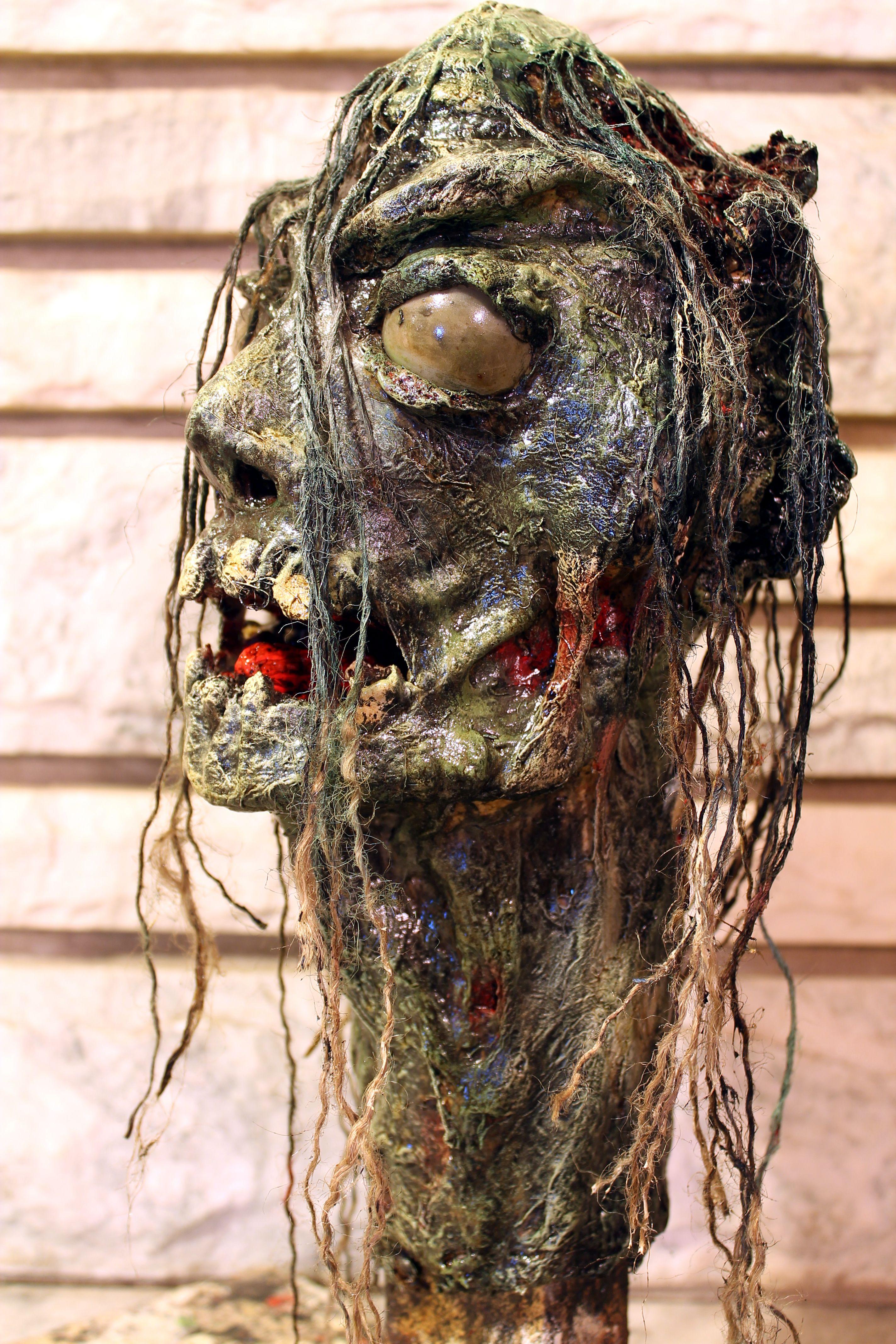 Nefarious - Paper mache zombie head.