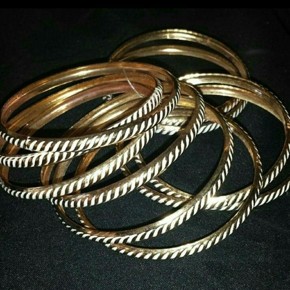 Bracelets Gold & White Panache Accessories  Jewelry Bracelets