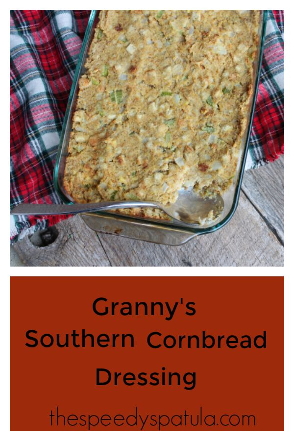 Simple and easy stuffing recipe that makes the perfect homemade cornbread dressing for Thanksgiving and Christmas. #stuffingrecipe #dressingrecipe #southerncornbreaddressing #southerncornbreaddressingrecipe #southerncornbreadstuffing #dressing #stuffing #holidaystuffing #thanksgivingstuffing #holidaydressing #thanksgivingdressing #turkeystuffingrecipe #turkeydressingrecipe #grannyssoutherncornbreaddressing #cornbreaddressing
