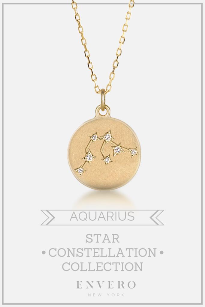 Aquarius Constellation Necklace Me Constellation Necklace Jewelry Aquarius