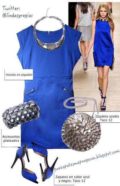 de7d8558c QUE ZAPATOS ME PONGO CON Vestidos Azul Eléctrico