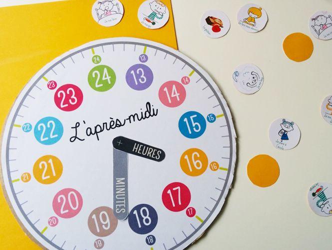fabriquer une horloge pour apprendre horloge et heures. Black Bedroom Furniture Sets. Home Design Ideas