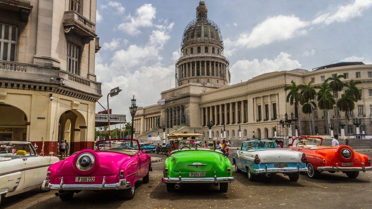 Обои куба, havana, ночь, Old Havana, Гавана. Города foto 15