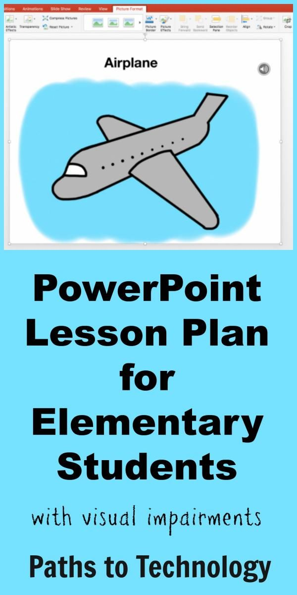 powerpoint lesson plan for elementary students students assistive