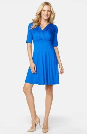 Maternal America Tummy Tuck Maternity Nursing Three Quarter Sleeve Dress
