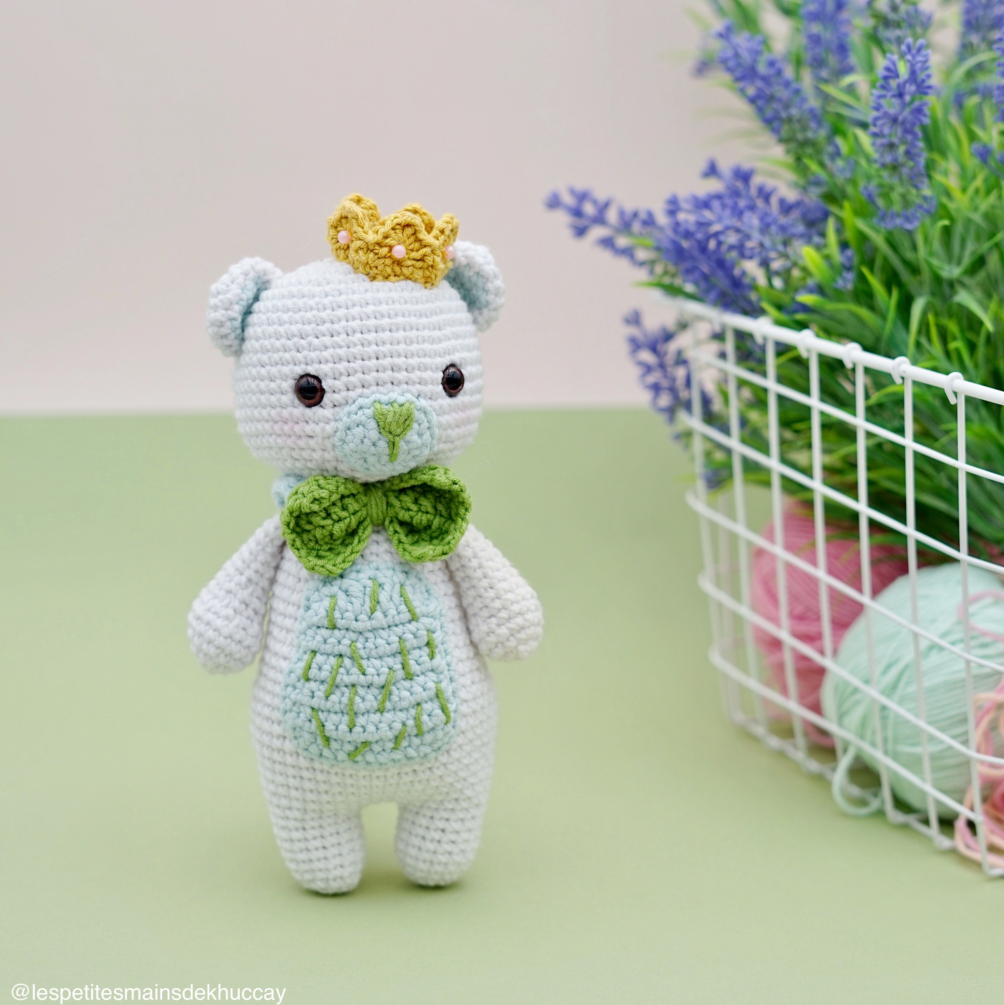 Boo the Panda amigurumi pattern by Hello Yellow Yarn | Tricot et ... | 4000x3995