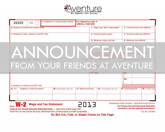 Preparing For Tax Season  News From Aventure