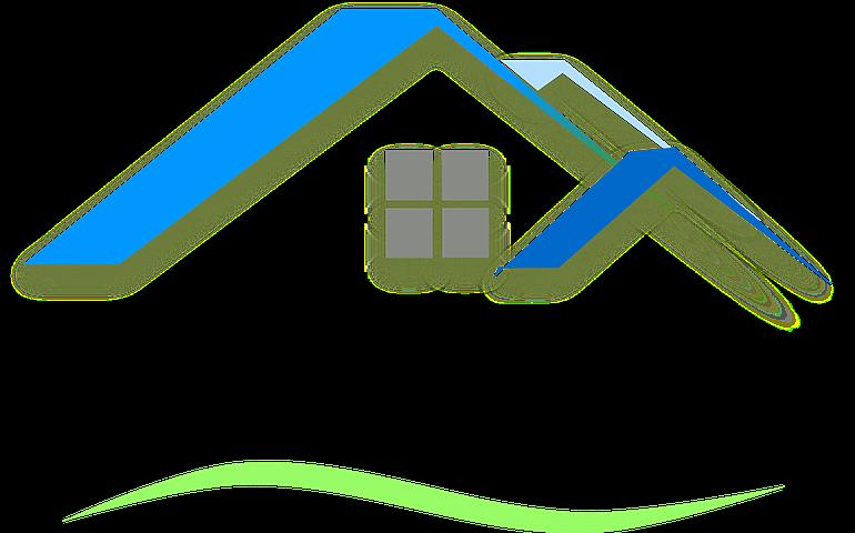 House Roof Blue Country County Rumah Rumah Hijau Atap Hijau