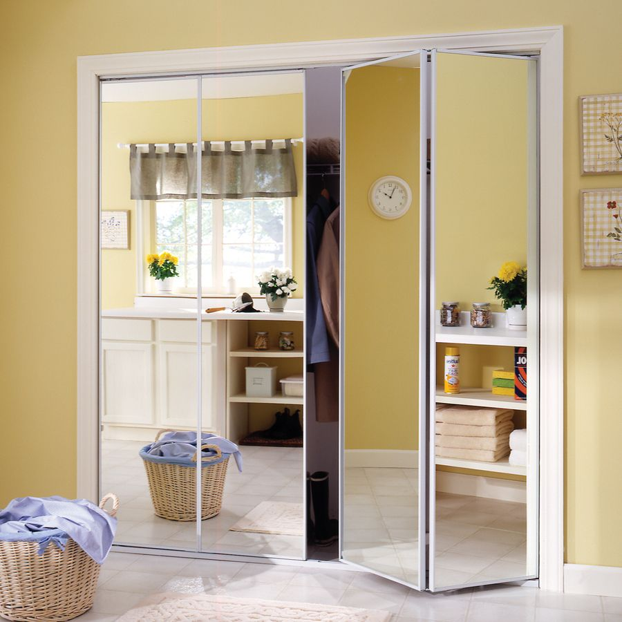 Product Image 2 Mirrored Bifold Closet Doors Bifold Closet Doors Folding Closet Doors