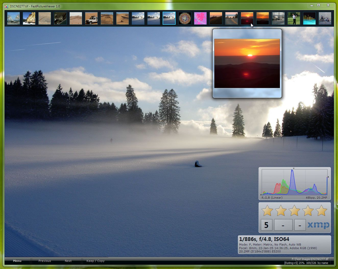 FastPictureViewer Professional Image Viewer running on