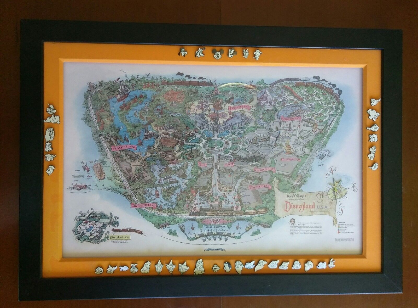 Rare disneyland 1958 souvenir pin set map le 1000 disney 50th rare disneyland 1958 souvenir pin set map le 1000 disney 50th anniversary ebay gumiabroncs Image collections