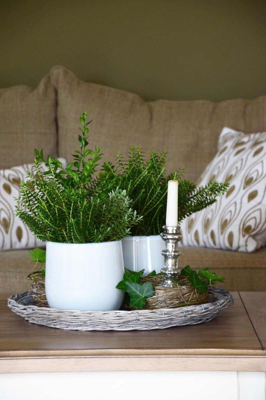 deko fur wohnzimmertisch, schnelle immergrüne deko für den wohnzimmertisch | mein blog, Design ideen