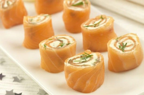 Easy canapes on pinterest canapes ideas canapes recipes for Smoked salmon roulade canape