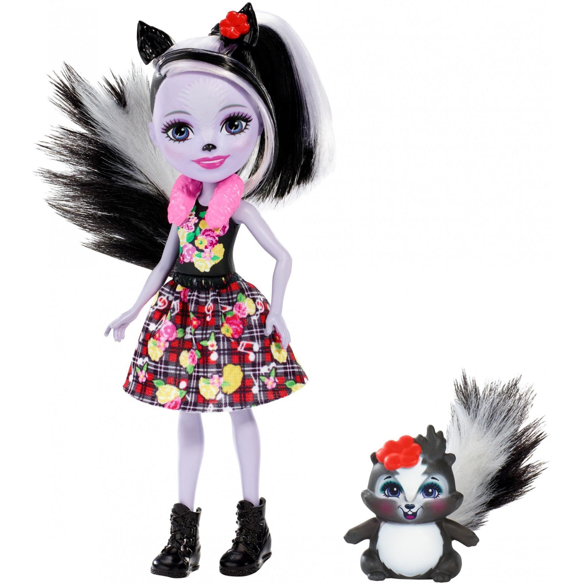 Enchantimals Sage Skunk Doll with Caper Skunk Friend