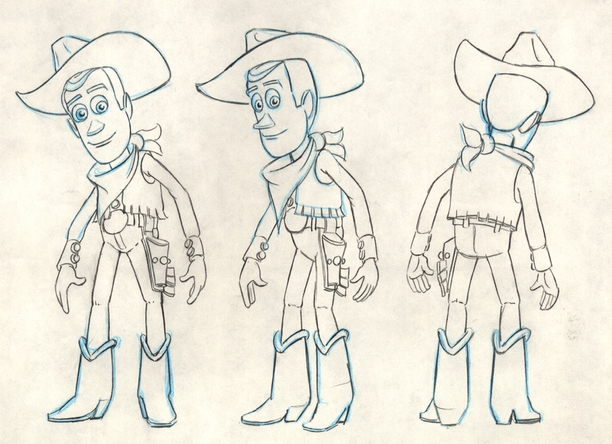 The inspiration for Woody came from one of Toy Story director John  Lasseter's favorite childhood toys. | Disney sketches, Pixar concept art,  Disney drawings
