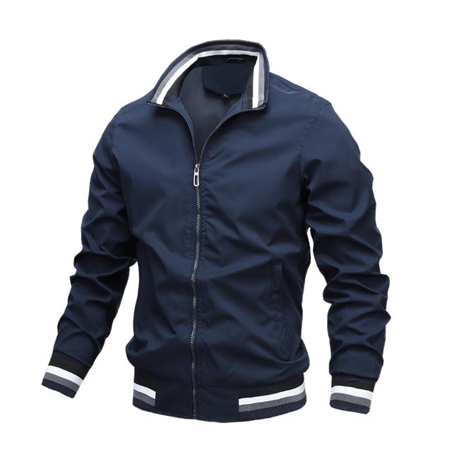 Mens Fashion Jackets and Coats New Men's Windbreaker Bomber Jacket 2020 Autumn Men Army Cargo Outdoors Clothes Casual Streetwear – XSXB10 Blue / S
