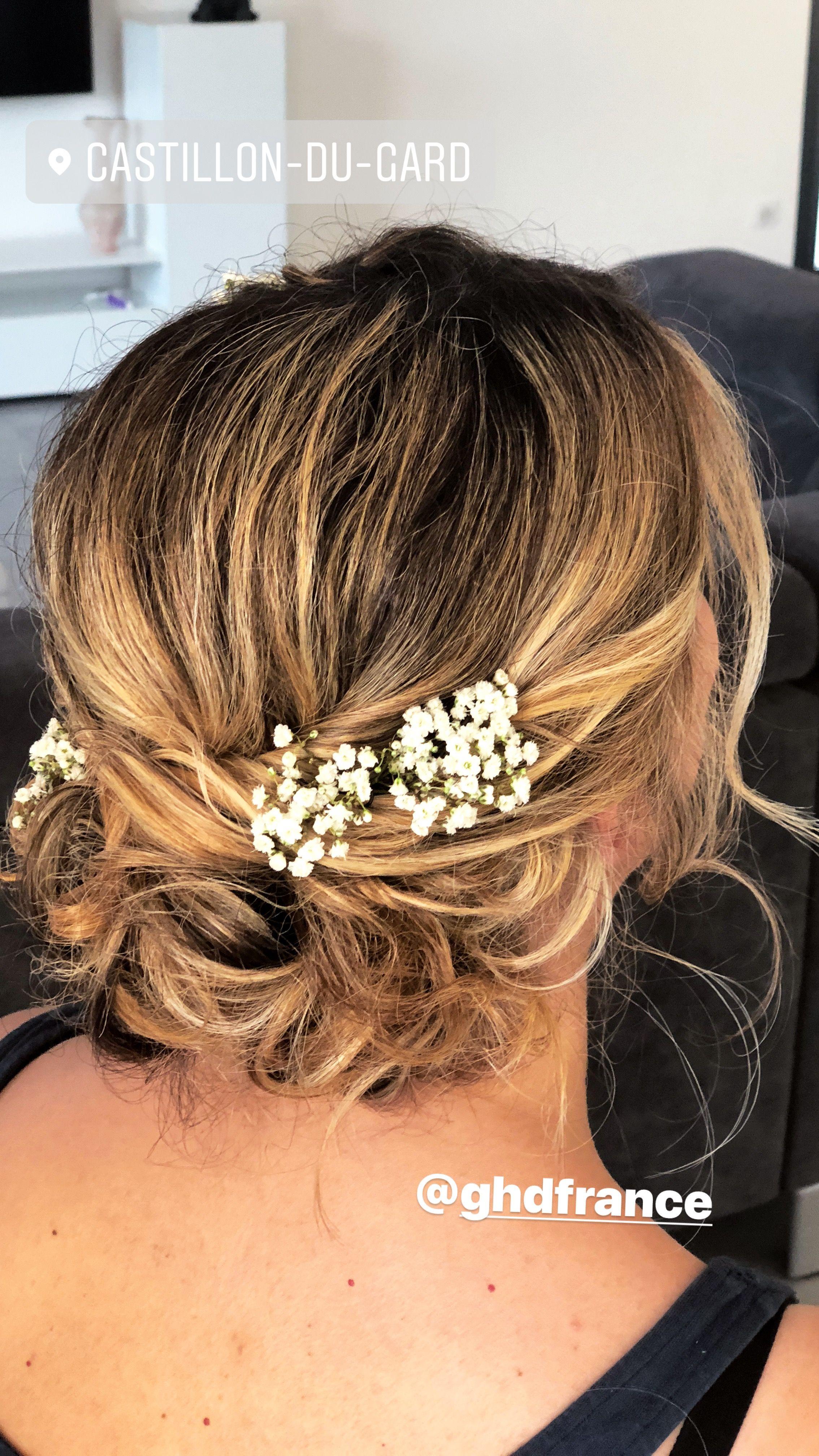 Chignon Boheme Bride Hair Coiffure Mariage Coiffures