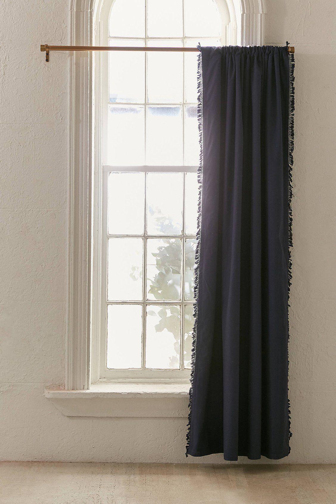 Emma Blackout Fringe Window Curtain Curtains Window Curtains Urban Outfitters Curtains