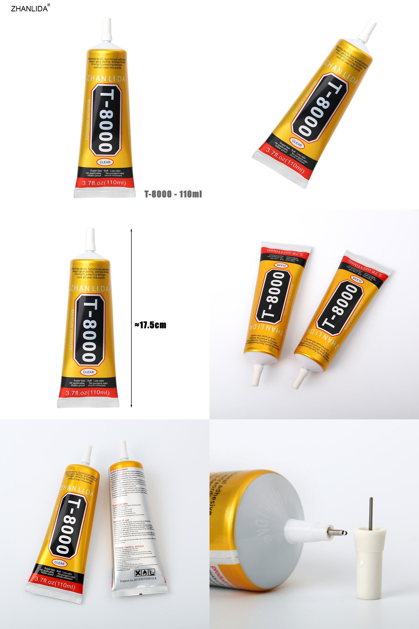 Visit to Buy  ZHANLIDA T-8000 110ml Clear Glue Epoxy Resin for Glass ... 7dfed7bb5658