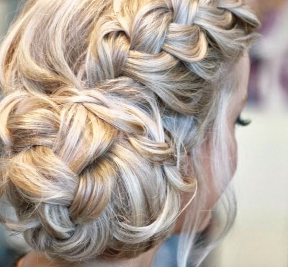 Lovely hair put up in a side with a plait.   Hairstyles and makeup ...