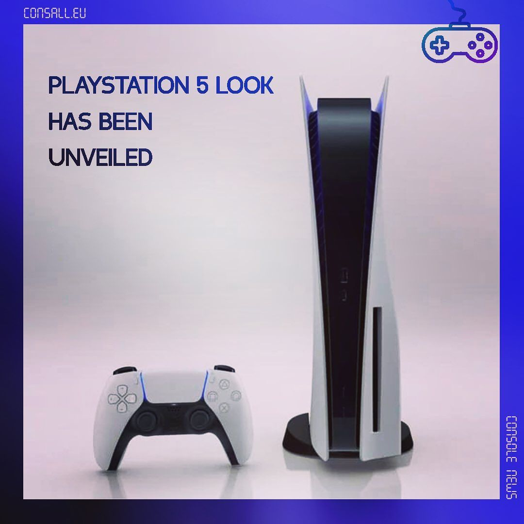 Playstation 5 Look Has Been Unveiled Video Visit Consall Eu To Find Out More Link In Bio Ps5 Sony Playstation5 Con In 2020 Playstation 5 Playstation Console