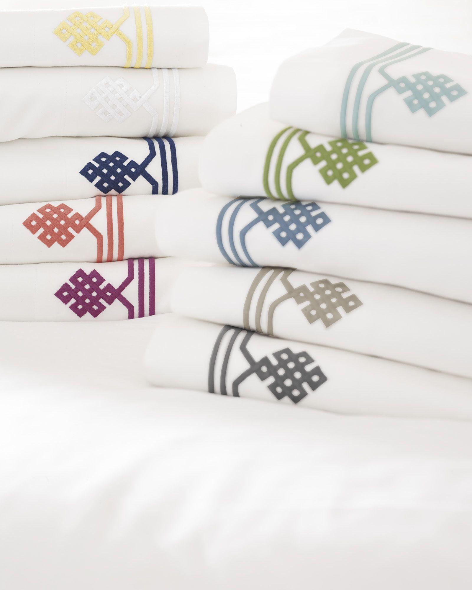 Gobi Embroidered Sheet Set #serenaandlily #bedding #bedroom