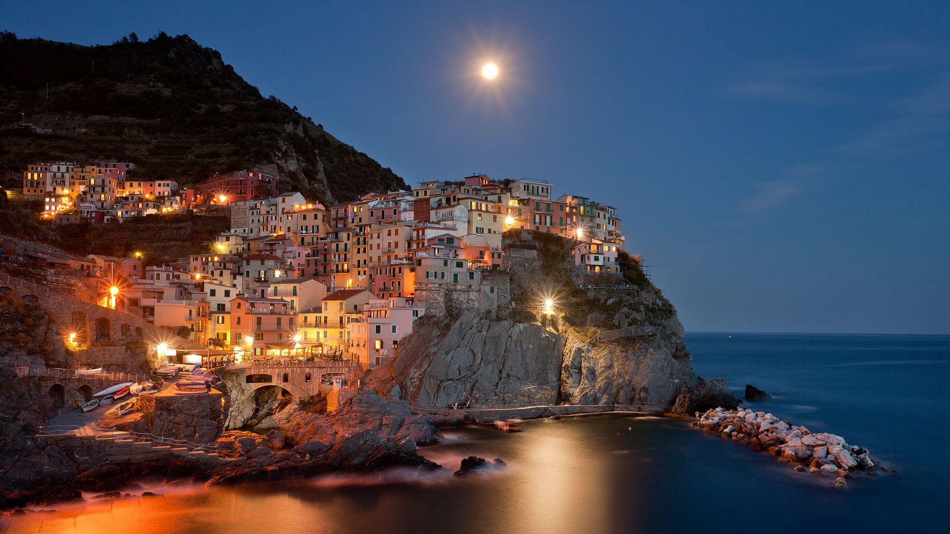 Manarola Night view [1920x1080]. Let like/ follow/ repin